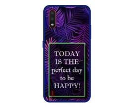 Husa Premium Spate Upzz Pro Anti Shock Compatibila Cu Samsung Galaxy A01, Model Perfect Day, Rama Albastra