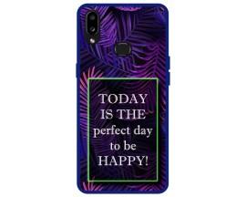 Husa Premium Spate Upzz Pro Anti Shock Compatibila Cu Samsung Galaxy A10s, Model Perfect Day, Rama Albastra