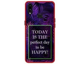 Husa Premium Spate Upzz Pro Anti Shock Compatibila Cu Samsung Galaxy A10s, Model Perfect Day, Rama Rosie