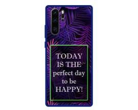 Husa Premium Spate Upzz Pro Anti Shock Compatibila Cu Huawei P30 Pro, Model Perfect Day, Rama Albastra