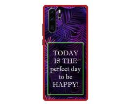 Husa Premium Spate Upzz Pro Anti Shock Compatibila Cu Huawei P30 Pro, Model Perfect Day, Rama Rosie