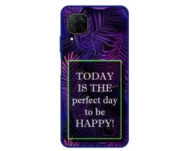 Husa Premium Spate Upzz Pro Anti Shock Compatibila Cu Huawei P40 Lite, Model Perfect Day, Rama Albastra