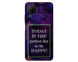 Husa Premium Spate Upzz Pro Anti Shock Compatibila Cu Huawei P40 Lite, Model Perfect Day, Rama Neagra