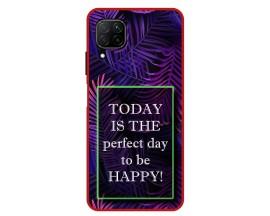 Husa Premium Spate Upzz Pro Anti Shock Compatibila Cu Huawei P40 Lite, Model Perfect Day, Rama Rosie