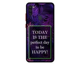 Husa Premium Spate Upzz Pro Anti Shock Compatibila Cu Samsung Galaxy A11, Model Perfect Day, Rama Neagra