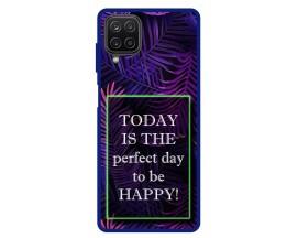 Husa Premium Spate Upzz Pro Anti Shock Compatibila Cu Samsung Galaxy A12, Model Perfect Day, Rama Albastra