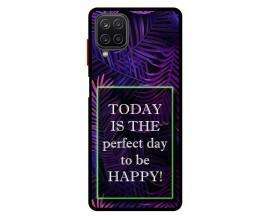 Husa Premium Spate Upzz Pro Anti Shock Compatibila Cu Samsung Galaxy A12, Model Perfect Day, Rama Neagra