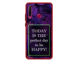 Husa Premium Spate Upzz Pro Anti Shock Compatibila Cu Huawei P40 Lite E, Model Perfect Day, Rama Rosie