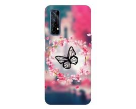 Husa Silicon Soft Upzz Print Compatibila Cu Realme 7 Model Butterfly