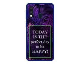 Husa Premium Spate Upzz Pro Anti Shock Compatibila Cu Samsung Galaxy A20e, Model Perfect Day, Rama Albastra