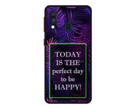 Husa Premium Spate Upzz Pro Anti Shock Compatibila Cu Samsung Galaxy A20e, Model Perfect Day, Rama Neagra