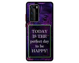Husa Premium Spate Upzz Pro Anti Shock Compatibila Cu Huawei P40 Pro, Model Perfect Day, Rama Neagra