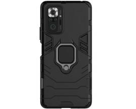 Husa Spate Upzz Ring Armor Compatibila Cu Xiaomi Redmi Note 10 Pro, Negru