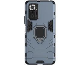Husa Spate Upzz Ring Armor Compatibila Cu Xiaomi Redmi Note 10 Pro, Albastru
