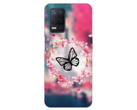 Husa Silicon Soft Upzz Print Compatibila Cu Realme 8 Model Butterfly