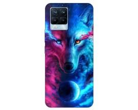 Husa Silicon Soft Upzz Print Compatibila Cu Realme 8 Pro Model Wolf