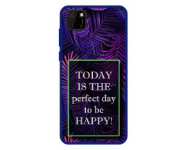 Husa Premium Spate Upzz Pro Anti Shock Compatibila Cu Huawei Y5p, Model Perfect Day, Rama Albastra