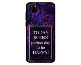 Husa Premium Spate Upzz Pro Anti Shock Compatibila Cu Huawei Y5p, Model Perfect Day, Rama Neagra