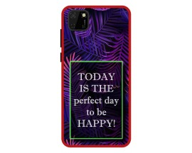 Husa Premium Spate Upzz Pro Anti Shock Compatibila Cu Huawei Y5p, Model Perfect Day, Rama Rosie