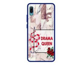 Husa Premium Spate Upzz Pro Anti Shock Compatibila Cu Huawei Y6 2019, Model Drama Queen, Rama Albastra
