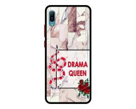 Husa Premium Spate Upzz Pro Anti Shock Compatibila Cu Huawei Y6 2019, Model Drama Queen, Rama Neagra