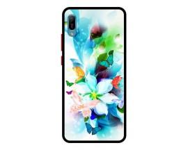 Husa Premium Spate Upzz Pro Anti Shock Compatibila Cu Huawei Y6 2019, Model Painted Butterflies, Rama Neagra