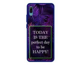 Husa Premium Spate Upzz Pro Anti Shock Compatibila Cu Huawei Y6 2019, Model Perfect Day, Rama Albastra