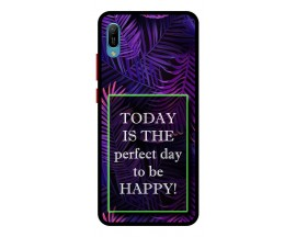 Husa Premium Spate Upzz Pro Anti Shock Compatibila Cu Huawei Y6 2019, Model Perfect Day, Rama Neagra