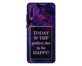 Husa Premium Spate Upzz Pro Anti Shock Compatibila Cu Huawei Y6p, Model Perfect Day, Rama Albastra