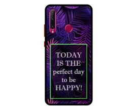 Husa Premium Spate Upzz Pro Anti Shock Compatibila Cu Huawei Y6p, Model Perfect Day, Rama Neagra