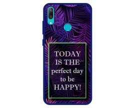 Husa Premium Spate Upzz Pro Anti Shock Compatibila Cu Huawei Y7 2019, Model Perfect Day, Rama Albastra