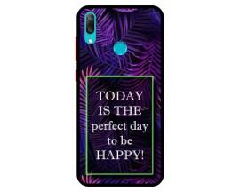 Husa Premium Spate Upzz Pro Anti Shock Compatibila Cu Huawei Y7 2019, Model Perfect Day, Rama Neagra