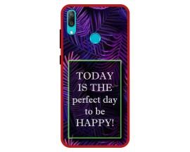 Husa Premium Spate Upzz Pro Anti Shock Compatibila Cu Huawei Y7 2019, Model Perfect Day, Rama Rosie