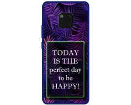 Husa Premium Spate Upzz Pro Anti Shock Compatibila Cu Huawei Mate 20 Pro, Model Perfect Day, Rama Albastra