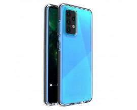 Husa Antishock Upzz Spring Compatibila Cu Samsung Galaxy A52 4G / A52 5G , Transparenta Cu Margine Neagra