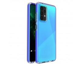 Husa Antishock Upzz Spring Compatibila Cu Samsung Galaxy A52 4G / A52 5G , Transparenta Cu Margine Albastra