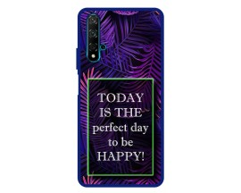 Husa Premium Spate Upzz Pro Anti Shock Compatibila Cu Huawei Nova 5T, Model Perfect Day, Rama Albastra