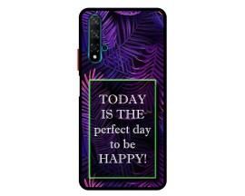 Husa Premium Spate Upzz Pro Anti Shock Compatibila Cu Huawei Nova 5T, Model Perfect Day, Rama Neagra