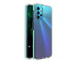 Husa Antishock Upzz Spring Compatibila Cu Samsung Galaxy A32 5G, Transparenta Cu Margine Verde Menta