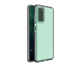 Husa Antishock Upzz Spring Compatibila Cu Samsung Galaxy A12 / M12, Transparenta Cu Margine Neagra
