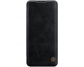 Husa Flip Cover Book Premium Nillkin Qin Compatibila Cu OnePlus 9 Pro, Negru, Piele Ecologica