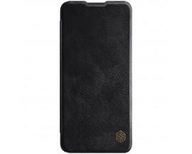 Husa Flip Cover Book Premium Nillkin Qin Compatibila Cu OnePlus 9, Negru, Piele Ecologica