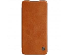Husa Flip Cover Book Premium Nillkin Qin Compatibila Cu Samsung Galaxy A32 5G, Maro, Piele Ecologica