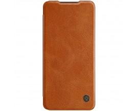 Husa Flip Cover Book Premium Nillkin Qin Compatibila Cu Samsung Galaxy A72 4G, Maro, Piele Ecologica