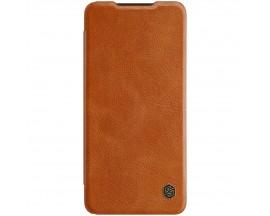 Husa Flip Cover Book Premium Nillkin Qin Compatibila Cu Samsung Galaxy A52 4G / A52 5G, Maro, Piele Ecologica