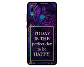 Husa Premium Spate Upzz Pro Anti Shock Compatibila Cu Huawei P Smart 2019, Model Perfect Day, Rama Neagra