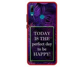 Husa Premium Spate Upzz Pro Anti Shock Compatibila Cu Huawei P Smart 2019, Model Perfect Day, Rama Rosie