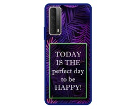 Husa Premium Spate Upzz Pro Anti Shock Compatibila Cu Huawei P Smart 2021, Model Perfect Day, Rama Albastra