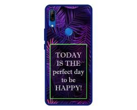 Husa Premium Spate Upzz Pro Anti Shock Compatibila Cu Huawei P Smart Z, Model Perfect Day, Rama Albastra