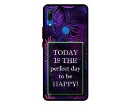 Husa Premium Spate Upzz Pro Anti Shock Compatibila Cu Huawei P Smart Z, Model Perfect Day, Rama Neagra